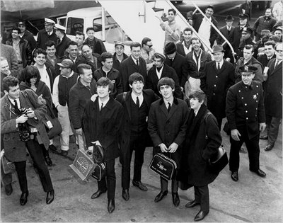 The Lads arrive in New York, 1964